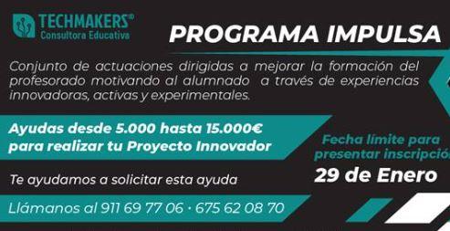 Techmakers ayuda a los centros de enseñanza en el programa IMPULSA ERACIS